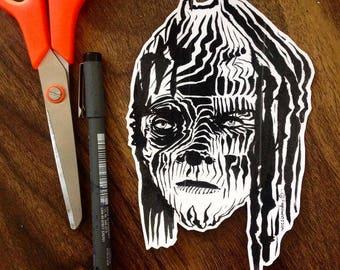 big head sticker