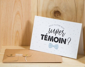 Will you be my best man? Folded card + envelope