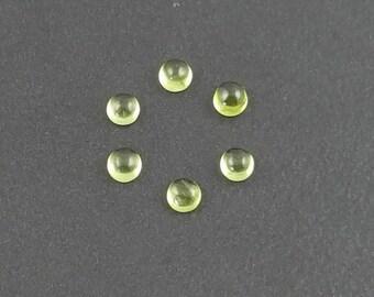 4mm Peridot Cabochon, calibrated, green cab, peridot, peridot cab, peridot cabochons, green stone, small cabochon, green peridot, mgsupply