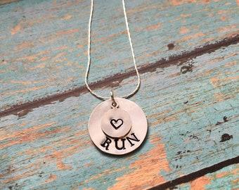 Running necklace - Half marathon necklace - Race necklace - Love running - love to run - 13.1 necklace - Run necklace - Commemorative