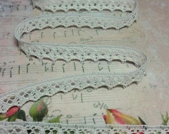 """3/8"""" Lace- Lace for Junk Journals, Scrapbooks, Planners, Planner Clip embellishment, Art journal, Mixed Media, Lace books"""