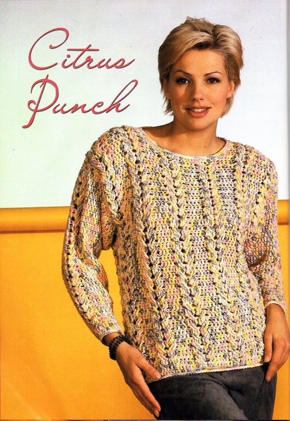 womens crochet sweater pattern CROCHET PATTERN pdf ladies crochet ...