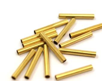 Raw Brass Tube 25 Pcs 21 x 3 mm (hole 2.4 mm)  E213Y24 1894
