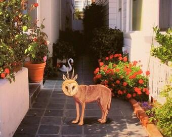 Animal Art, Print on 4x4 Wood Block