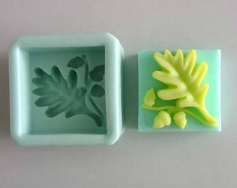 Leaf Square Silicone Mold Silicone Mould Candy Mold Chocolate Mold Soap Mold Polymer Clay Mold Resin Mold R0078