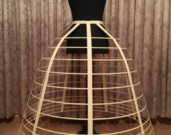 Victorian Style Cage Crinoline, Hoop Skirt, Scarlett O'Hara Crinoline Frame, Civil War, waist: 25,5 - 28 in