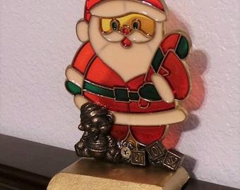 Santa Claus stocking hanger holder