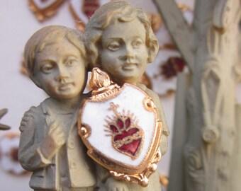 Enameled Sacred Heart Religious Finding