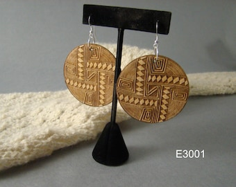Figured Maple Wood Earrings