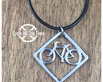 Geometric Bicycle Necklace