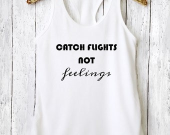 Catch Flights, Graphic Tee, Yoga Tank, Yoga Shirt, Workout Tank, Workout Shirt, Funny Yoga Shirt, Yoga Top, Funny Workout Shirt, CFNFT