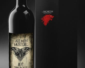 Game of Thrones  Wine -Game of thrones Gift - Game of Thrones Wine Labels - I drink and know things - Bend the Knee - Christmas Gift - Party