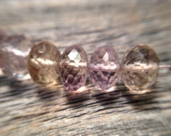 Ametrine Citrine and Amethyst beads