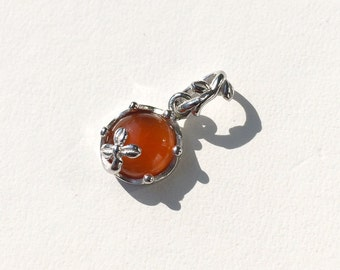 "carnelian, gemstone pendant, necklace, jewelry, silver, ""cute jewels"", japan, handmade, kawaii, cute, rose, tear drop, design, jewel, sterling, 925"
