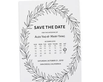 Rustic Save the Date Wedding Cards , Save the Date Cards, Personalized Save the Date Cards #36