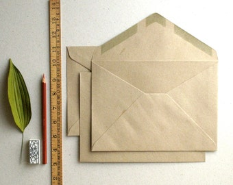 "50 C5 (6 3/8""x9"") Brown Kraft Envelopes - Triangle flap - for A5 (half A4) cards and 6""x8"" photos"