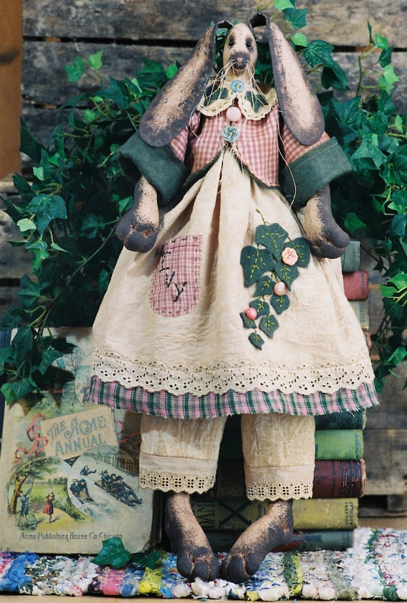 Ivy - Mailed Cloth Doll Pattern  24in Easter Girl Bunny Rabbit