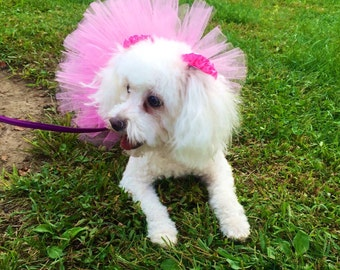 Pink Dog Tutu, Pet Tutu, Dog Skirt, Dog Clothes, Dog Accessories, Cute Dog Outfit, Tutus,Dog Photo Props, Dog Costume, Tutus for Dogs