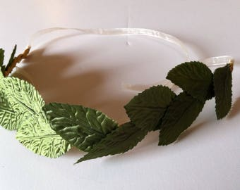 Spring Bouquet Collection - Green Leaf Flower Crown