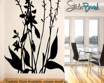 Vinyl Wall Decal Sticker Hosta Plant Bush Tree AC142m