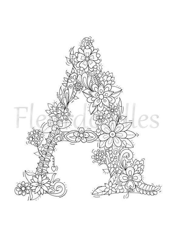 RABATT Alphabet der Floralen Buchstaben Ausmalbuch