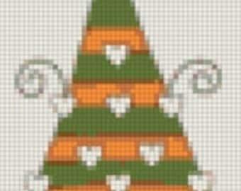 E-Pattern Holiday Tree Cross Stitch Pattern 05