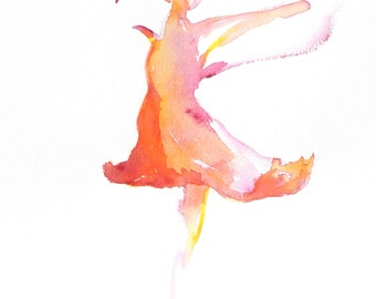 Ballet Dancer Painting, Ballerina, Ballerina Art, Paintings of Ballet, Art Prints, Dancer