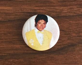 Vintage Michael Jackson 80s Button King of Pop