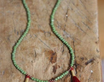 Red Tassel Neckless