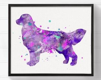 Watercolor Golden Retriever, Golden Retriever Print, Golden Retriever Painting, Dog Painting, Dog Art Print, Girls Room Decor, Kids Wall Art
