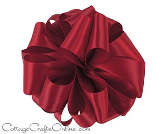 "Satin Ribbon, 1 1/2"" wide, Scarlet Red Double Face - TEN YARD ROLL - Offray ""Scarlet #260"" Wedding Double Sided Satin, Sewing Trim"