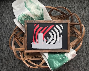 Blazers sign, blazer decor, NBA, portland, oregon, basketball, blazers, portland trailblazers, husband gift, man cave,