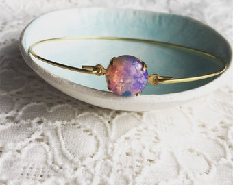 Fire opal bangle, opal bangle,modern pretty jewelry