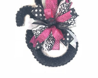Halloween Black Cat with Bow