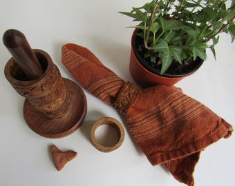 Carved Wooden Napkin Rings