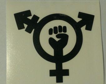 Trans Feminism Symbol Vinyl Decal