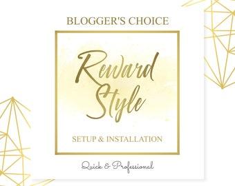 Reward Style Setup, Blog Help, Blogger Help, Wordpress Help, Website Help, Shop page setup