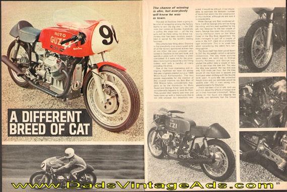 1970 Moto Guzzi Road Racer Motorcycle 4-Page Article #de70eb10