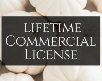 Lifetime Commercial License for customers using Aubrey's SVG Designs, Covers Entire Shop!