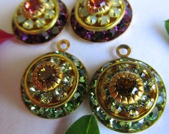 Vintage Swarovski  Three Layer  Crystal Drop