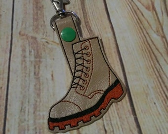 Military - Combat Boot - Key Fob Design - DIGITAL Embroidery DESIGN
