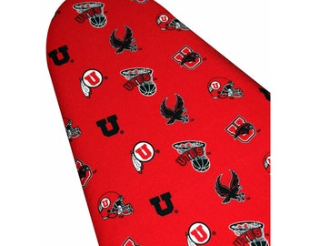 Ironing Board Cover custom sizes including brabantia, more ELASTIC around edges University of Utah Utes Go Utes pick your size