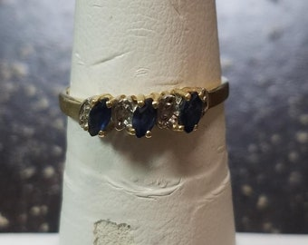 Genuine Sapphire 14k Gold Ring