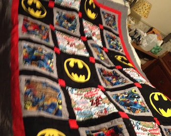Twin Sized Batman Quilt