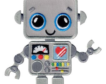 Robot Iron-On Patch Applique - Kids / Baby