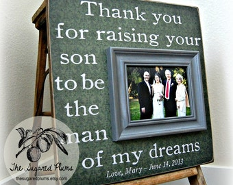 Mother of the Groom, Mother In Law Gift, Wedding Gift For Parents, Parents Thank You Gift, Picture Frame 16x16