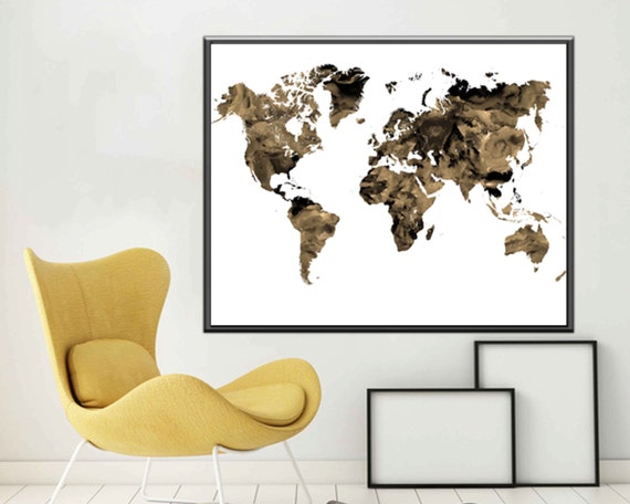 Map world map poster world map art world map print world map like this item gumiabroncs Image collections