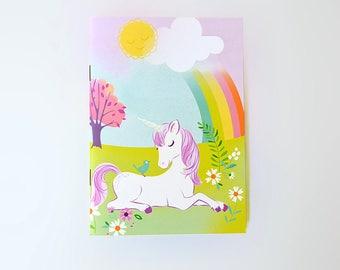 NOTEBOOK Sketchbook Journal - Unicorn