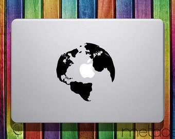 World map decal etsy world map macbook sticker decal 11 12 13 15 laptop stickers gumiabroncs Choice Image