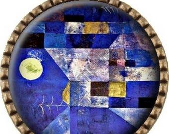 Cabochon - Klee Moon bronze Pendant (316)